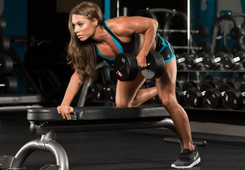 Single-Arm Dumbbell Row       back