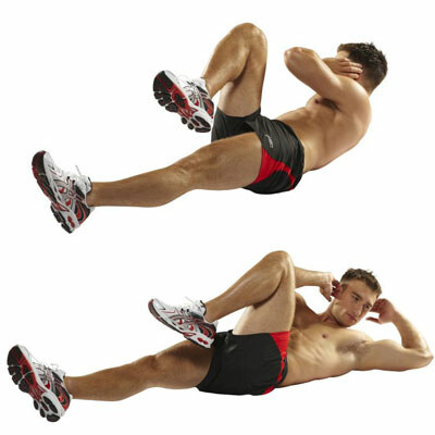 BICYCLES / ELBOW-TO-KNEE CRUNCHES / CROSS-BODY CRUNCHES