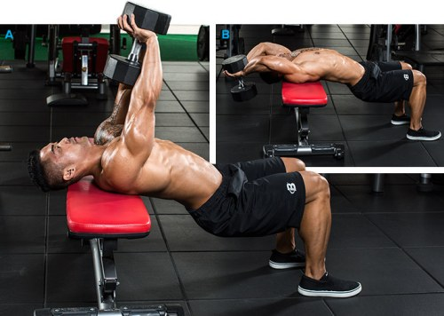 Bent-Arm Dumbbell Pullover